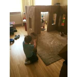 100 VNT LINSKMOS Kartononės plytos kartono kaladėlės blokai kartoninė plyta