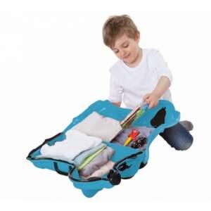Vaikiškas lagaminas ant ratukų Bobby Trolley mėlynas panašus į Trunki