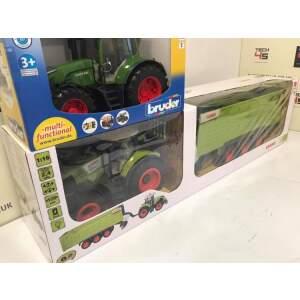 Distancinis nuotolinis valdymas 1:16 Elektrinis traktorius Claas Axion 870 + Claas Cargos 9600 100% RtR