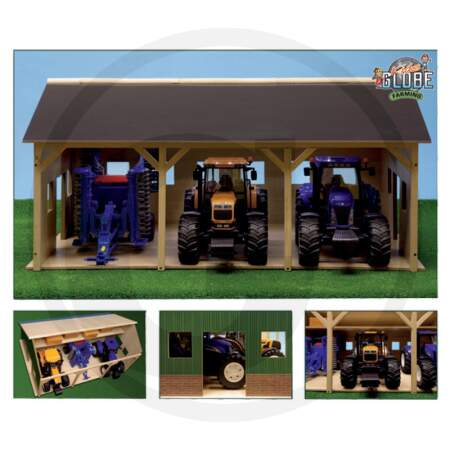 Traktorių garažas KIDS GLOBE TIMBER TRACTOR SHED