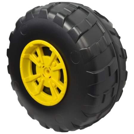 PEG PEREGO elektromobilio John deere traktoriaus originalus priekinis ratas (dešnė 1 vnt)