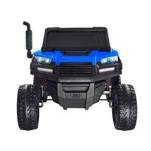 Vaikiškas traktorius su priekaba, mėlynas