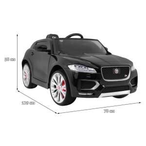 """Vaikiškas elektromobilis """"Jaguar F-Pace"""", juodas - lakuotas"""