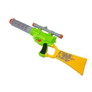 Žaislinis šautuvas su taikiniu, žalias