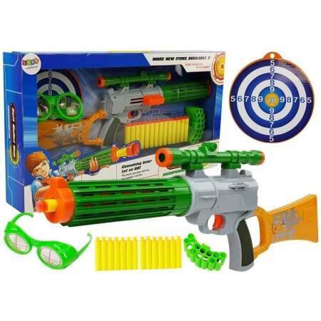 Žaislinis šautuvas su taikiniu, pilkas