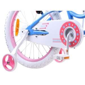 """Vaikiškas dviratis """"Royal Baby Star Girl 16"""", mėlynas"""