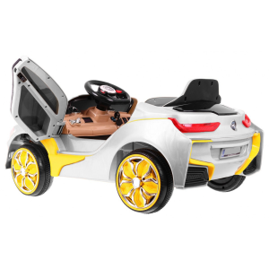 "Vaikiškas elektromobilis ""Rapid Sport"", pilkas"
