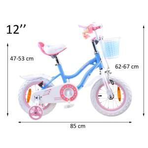 """Vaikiškas dviratis """"Royal Baby Star Girl 12"""", mėlynas"""