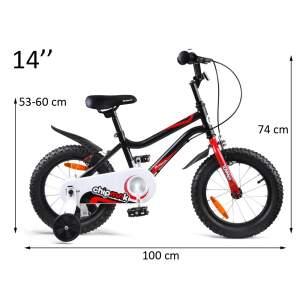 """Vaikiškas dviratis """"Royal Baby Chipmunk Summer 14"""", juodas"""