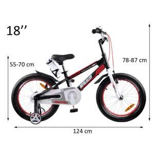 """Vaikiškas dviratis """"Royal Baby SPACE No. 1 18"""", juodas"""